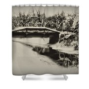 The Delaware Canal At Washingtons Crossing  Shower Curtain