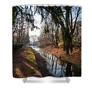 The Delaware Canal In New Hope Pa Shower Curtain