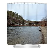 The Delaware River Shower Curtain