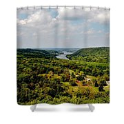 The Delaware River Valley Shower Curtain