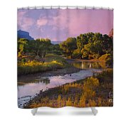 The Delores River At Gate Way Colorado Shower Curtain