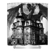 The Demon Of Hell House Shower Curtain