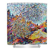The Dendritic Tree Shower Curtain