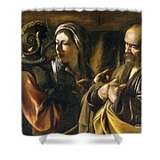 The Denial Of Saint Peter Shower Curtain