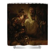 The Denial Of St Peter Shower Curtain