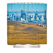 The Denver Skyline II Shower Curtain