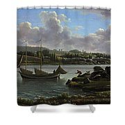 The Departure For The Hunt Shower Curtain