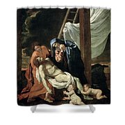 The Deposition Shower Curtain by Nicolas Poussin