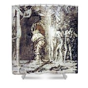 The Descent Into Hell 1468 Shower Curtain