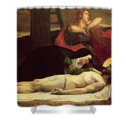 The Descent Of Christ From The Cross  Shower Curtain by Jean Joseph Weerts