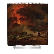 The Destruction Of Pompeii Shower Curtain