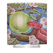 The Devil And Granny Smith Shower Curtain