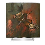 The Devil Went Down To Georgia Shower Curtain