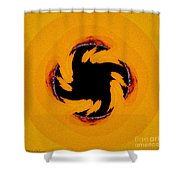 The Devil's Saw Blade Shower Curtain