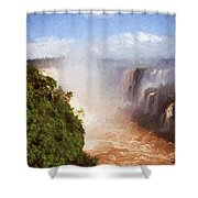 The Devil's Throat Shower Curtain