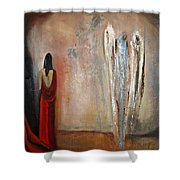 The Devine Messenger Shower Curtain
