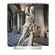 The Diana Of Versailles In The Louvre Shower Curtain