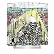 The Diner Car Shower Curtain