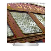 The Dining Car Shower Curtain