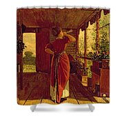 The Dinner Horn Shower Curtain