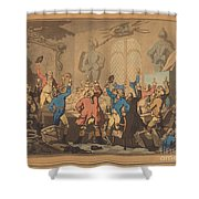The Dinner Shower Curtain