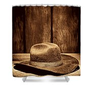 The Dirty Brown Hat Shower Curtain