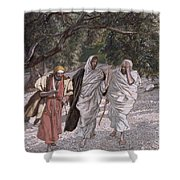 The Disciples On The Road To Emmaus Shower Curtain