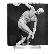 The Discobolus, 450.b.c Shower Curtain