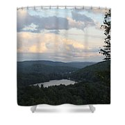 The Distant Hills Of Vermont Shower Curtain