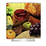 The Divine Meal Shower Curtain