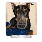 The Doberman Shower Curtain