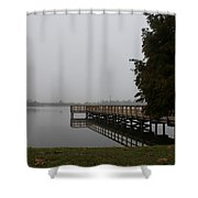 The Dock Shower Curtain by Michael Tesar