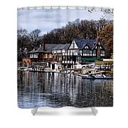 The Docks At Boathouse Row - Philadelphia Shower Curtain