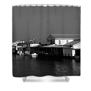 The Docks At Crisfield Md Shower Curtain