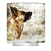 The Dog Speaks Shower Curtain