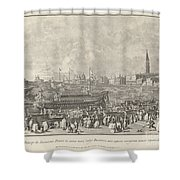 The Doge In The Bucintoro Departing For The Porto Di Lido On Ascension Day Shower Curtain