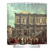 The Doge Visiting The Church And Scuola Di San Rocco Shower Curtain
