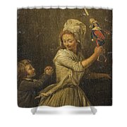 The Doll Shower Curtain