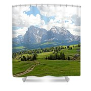 The Dolomites, Italy Shower Curtain