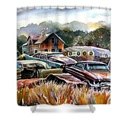 The Donor Cars Shower Curtain