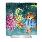 The Doo Doo Bears Shower Curtain