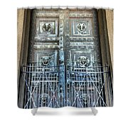 The Door At The Parthenon In Nashville Tennessee Shower Curtain