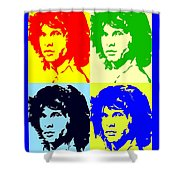 The Doors And Jimmy Shower Curtain by Robert Margetts