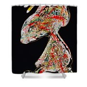 The Dotted Splatter Shower Curtain