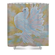 The Dove Shower Curtain