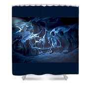 The Dragon And The Maiden Shower Curtain