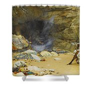 The Dragon's Cave Shower Curtain