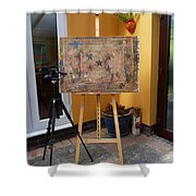 The Drawing Board Speaks Shower Curtain