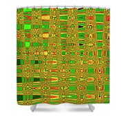 The Dreaded Bull Head Sticker Yellow Flower Abstract Shower Curtain