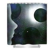 The Dream Of Space Shower Curtain